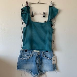 Abound tank with cute shoulders!